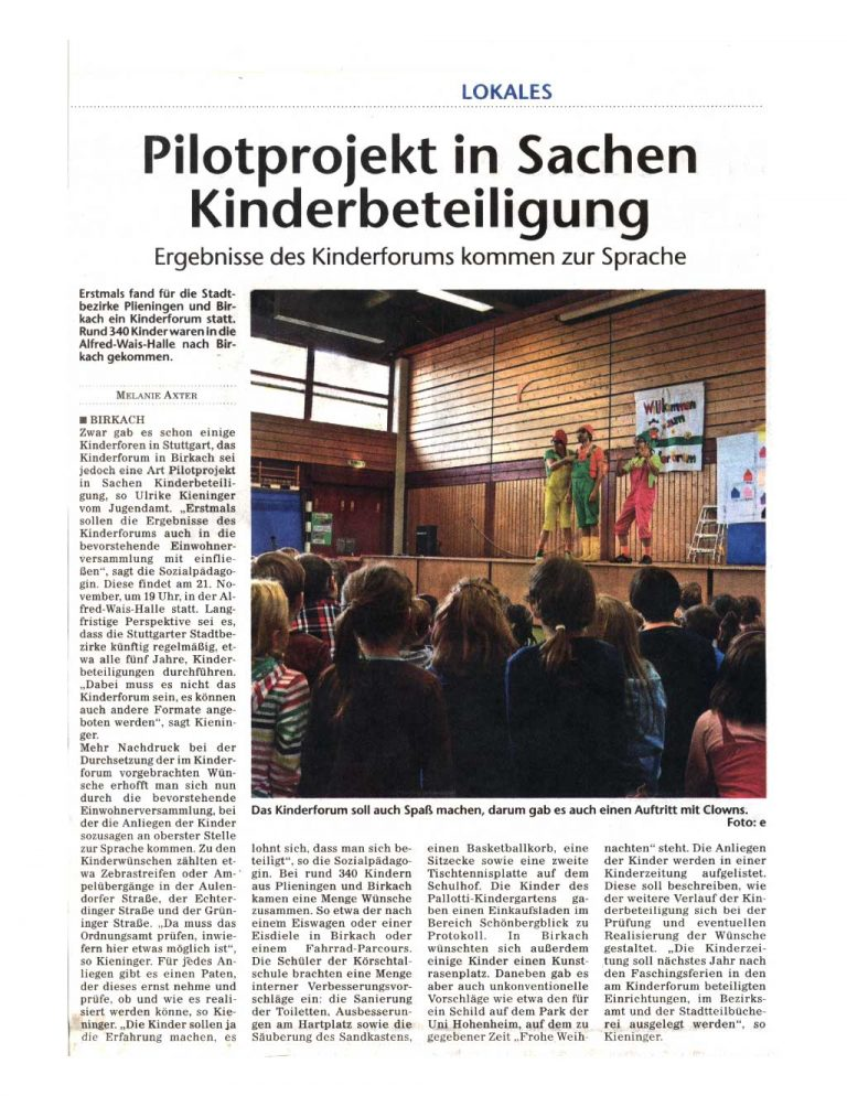 Kinderforum-Artikel